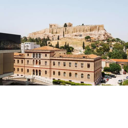 Across Acropolis Museum chic design apartment!