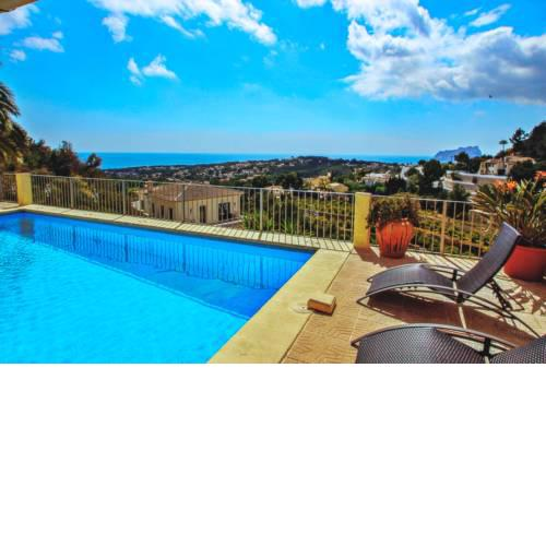 Alegria - sea view villa with private pool in Moraira