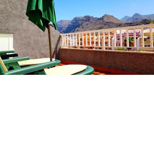 Apartment with 2 bedrooms in Santiago del Teide with wonderful mountain view furnished terrace and WiFi 90 m from the beach