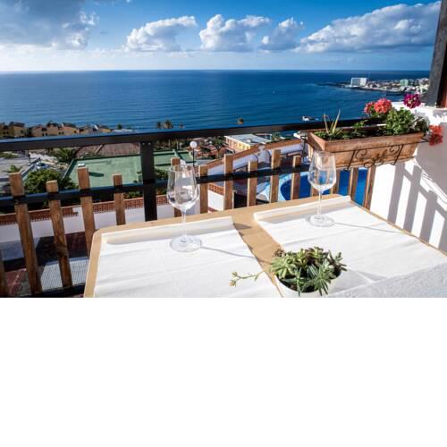 Apartment with one bedroom in Bajamar with wonderful sea view shared pool balcony 500 m from the beach