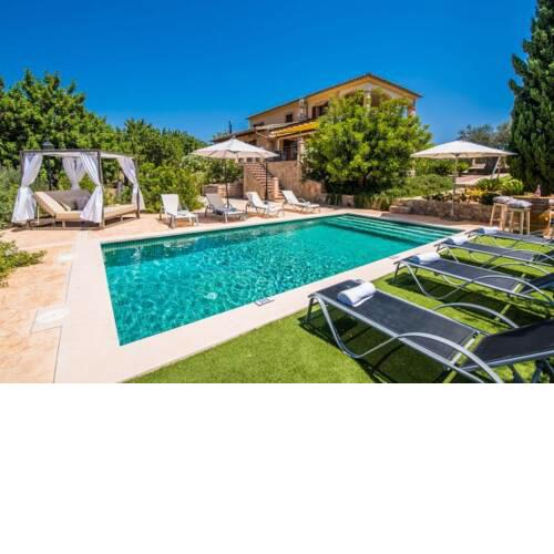 Holiday Home in Caimari Sleeps 8 with Pool Air Con and WiFi
