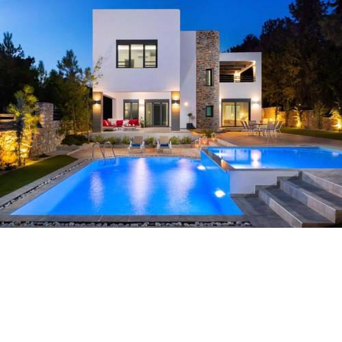 Lardos Villa Sleeps 7 Pool Air Con WiFi