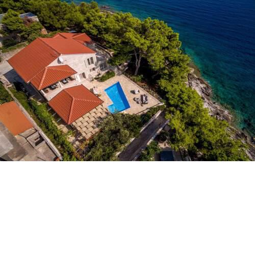 Luxury Beachfront Villa White Bellezza with private pool at the beach on Brac island - Sumartin