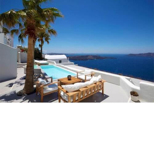 Luxury Holiday-home Santorini with sea