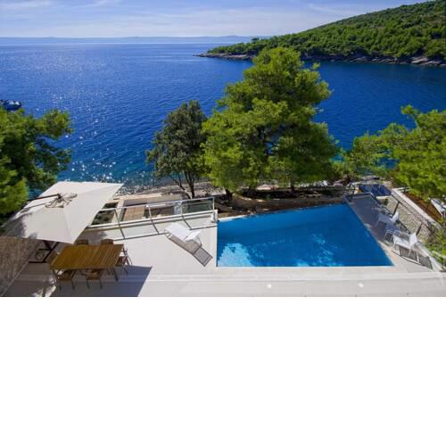 Luxury Seafront Villa My Dream with private pool, jacuzzi and staff at the beach on Brac island - Sumartin