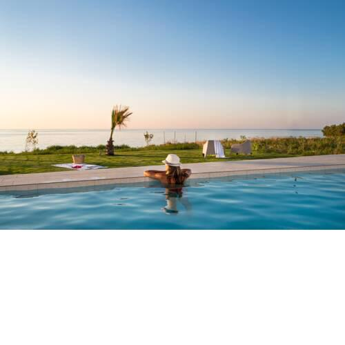 Seafront Nymphes Aigli, Brand New Villa with Pool, Children Area & BBQ