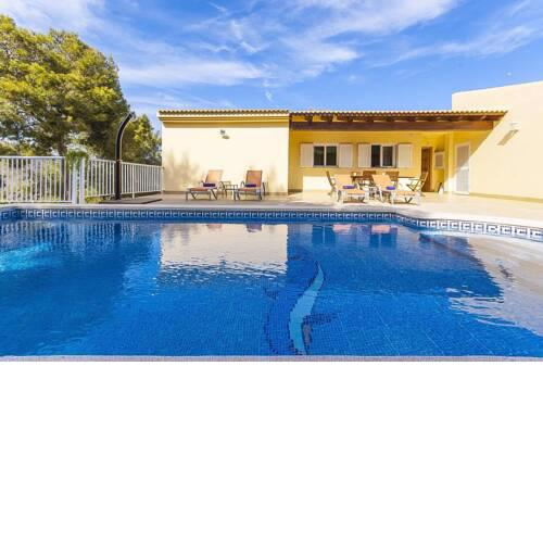 The Villa located in Cala Vinyes, has a private pool