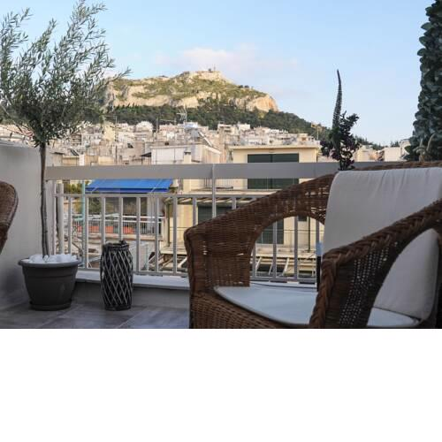 Top of the city Central studio with Acropolis View