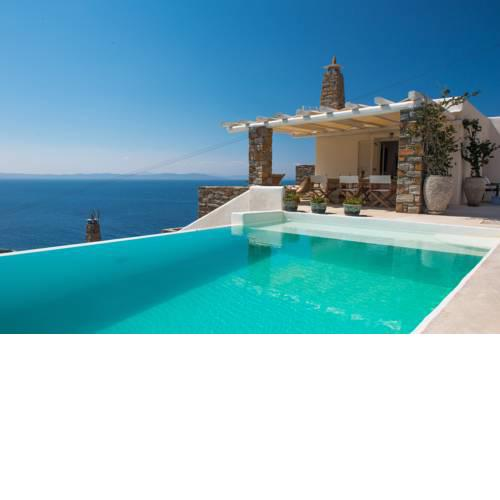 VILLA BEAUTIFIS in Kea, 4BDR/7prs, pool, seaview
